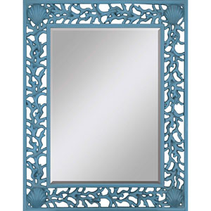 Blue Splash Rectangular Mirror Rectangle 49 X 38-Inch Mirrors - Decorative Mirror