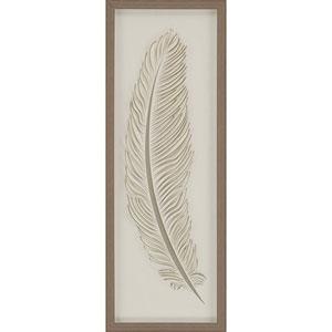 Feather 1 37 X 13-Inch Framed Art