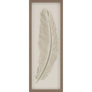 Feather 2 37 X 13-Inch Framed Art