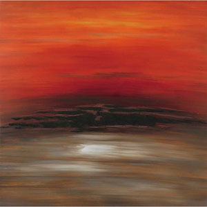 Red Sky: 45 x 45-Inch Canvas Wall Art