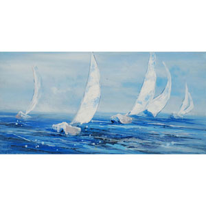 Come Sail Away: 27 x 54-Inch Canvas Wall Art