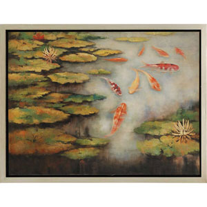 Koi Pond: 40 x 52-Inch Canvas Wall Art