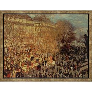 Boulevard des Capucines by Monet: 38 x 50-Inch Canvas Wall Art