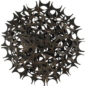 Aged Metal Industrial Menagerie Wall Sculpture