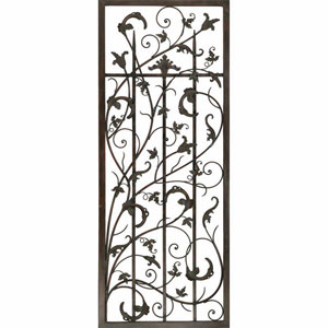 Aged Metal Rusty Vine Trellis I Wall Sculpture
