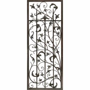 Aged Metal Rusty Vine Trellis II Wall Sculpture