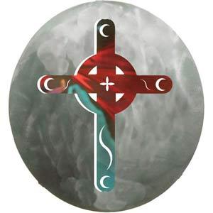 12-Inch 3D Celtic Moon Cross Wall Art