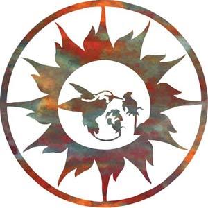 18-Inch Sun with Hummingbird Wall Art