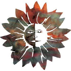 18-Inch Flower Sun Wall Art