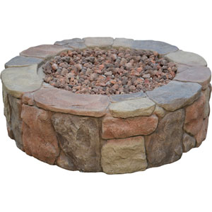 Petra Natural Stone Gas Fire Pit