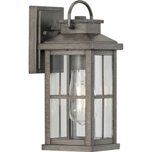 Williamston Antique Pewter One-Light Outdoor Wall Lantern with Clear Glass