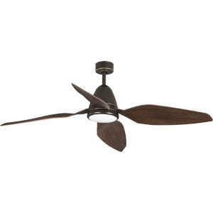 Holland Oil Rubbed Bronze 60-Inch LED Ceiling Fan with White Opal Shade