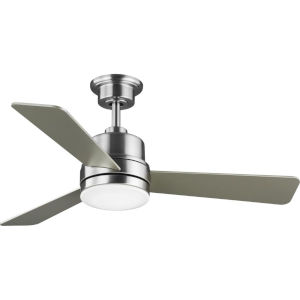 Trevina II Brushed Nickel 44-Inch LED Ceiling Fan with White Opal Shade