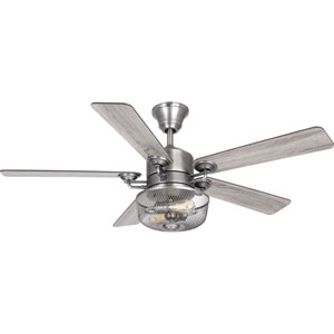 P2584-81: Greer Antique Nickel Two-Light LED Ceiling Fan