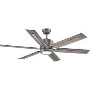 P2586-8130K: Glandon Antique Nickel LED Ceiling Fan