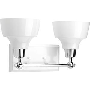P300040-015: Bramlett Polished Chrome Two-Light Bath Vanity