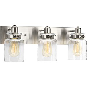 P300047-009: Calhoun Brushed Nickel Three-Light Bath Vanity