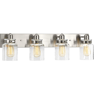 P300048-009: Calhoun Brushed Nickel Four-Light Bath Vanity