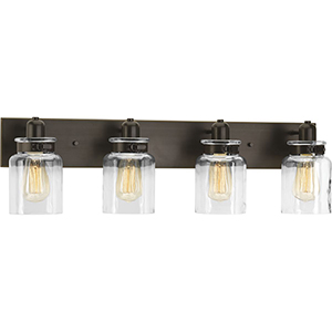 P300048-020: Calhoun Antique Bronze Four-Light Bath Vanity