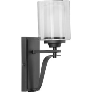 Kene Graphite Five-Inch One-Light Bath Vanity with Clear Shade