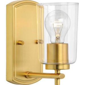 P300154-012 Adley Satin Brass Four-Inch One-Light Bath Vanity