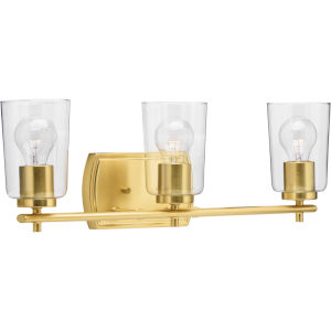 P300156-012 Adley Satin Brass 23-Inch Three-Light Bath Vanity