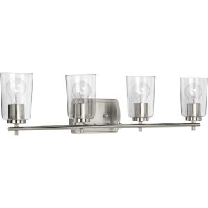 P300157-009 Adley Brushed Nickel 32-Inch Four-Light Bath Vanity