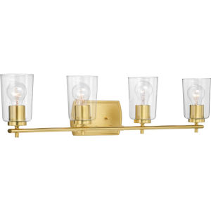 P300157-012 Adley Satin Brass 32-Inch Four-Light Bath Vanity