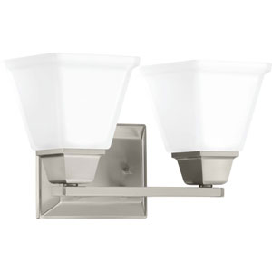 P300159-009: Clifton Heights Brushed Nickel Two-Light Bath Vanity