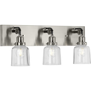 P300228-009 Rushton Brushed Nickel 24-Inch Three-Light Bath Vanity