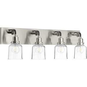 P300229-009 Rushton Brushed Nickel 32-Inch Four-Light Bath Vanity