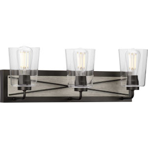 P300231-143 Briarwood Graphite 25-Inch Three-Light Bath Vanity