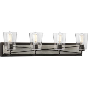 P300232-143 Briarwood Graphite 35-Inch Four-Light Bath Vanity