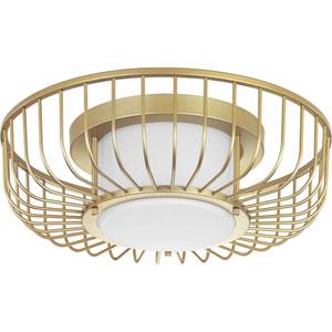 P350089-078-30: Finesse Antique Gold Leaf LED Flush Mount