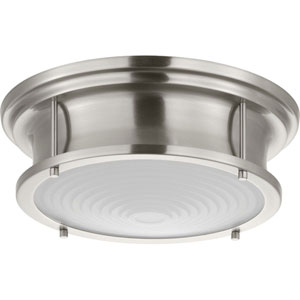 P350113-009-30: Fresnel Lens Brushed Nickel LED Pendant