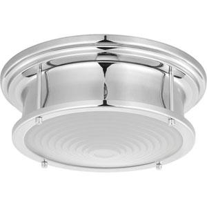 P350113-015-30: Fresnel Lens Polished Chrome LED Pendant