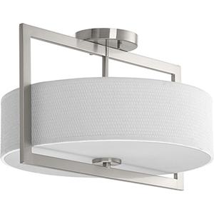 P3530-09: Harmony Brushed Nickel Three-Light Semi Flush Mount