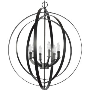 Equinox Black 30-Inch Six-Light Pendant