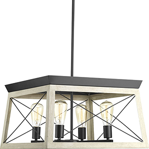 P400047-143: Briarwood Graphite Four-Light Chandelier