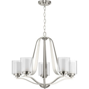 Kene Brushed Nickel 27-Inch Five-Light Chandelier