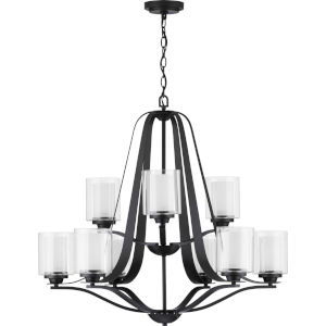 Kene Graphite 33-Inch Nine-Light Chandelier