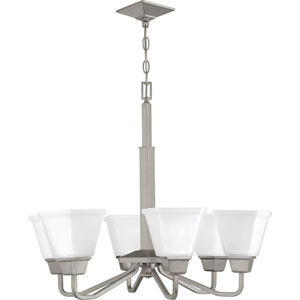 P400119-009: Clifton Heights Brushed Nickel Six-Light Chandelier