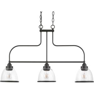 P400135-020: Saluda Antique Bronze Three-Light Chandelier