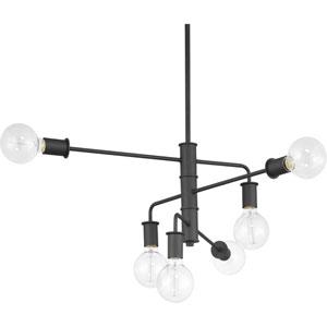 P400143-143: Calder Graphite Six-Light Chandelier
