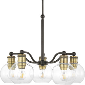 P400147-020: Hansford Antique Bronze Five-Light Chandelier