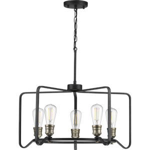 P400153-071 Foster Gilded Iron 25-Inch Five-Light Chandelier