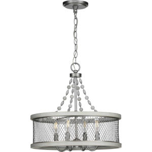Austelle Galvanized 18-Inch Four-Light Chandelier