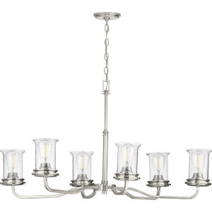 Winslett Brushed Nickel 34-Inch Six-Light Chandelier