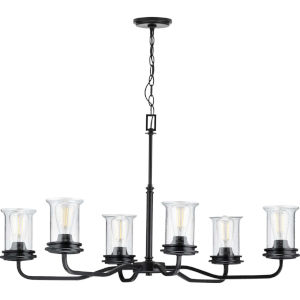Winslett Black 34-Inch Six-Light Chandelier