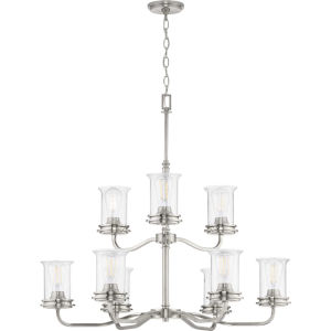 Winslett Brushed Nickel 34-Inch Nine-Light Chandelier